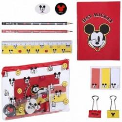 Set Escolar Completo Con Estuche Transparente y Material Mickey Disney