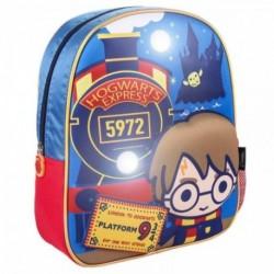 Mochila Infantil Luces 3D Harry Potter 25x31x1cm.