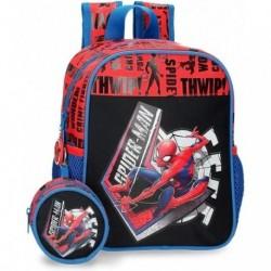 Mochila Con Monedero Spiderman Marvel 21x25x10cm.
