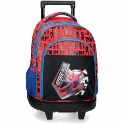 Mochila Compact Spiderman Marvel  2 Ruedas 32x45x21cm.