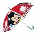 Paraguas Eva Transparente Mickey Disney Manual 46cm.