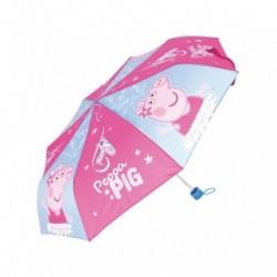 Paraguas Plegable Peppa Pig Manual 52cm.