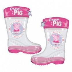 Botas De Agua Peppa Pig Transparente 12 Und. T. 24 al 32