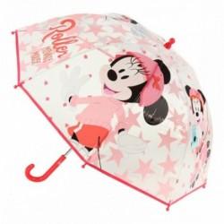 Paraguas Poe Burbuja Minnie Disney Manual 45cm.