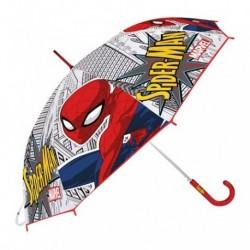 Paraguas Eva Transparente Spiderman Marvel Manual 46cm.