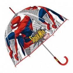 Paraguas Eva Transparente Burbuja Spiderman Marvel Manual 48cm.