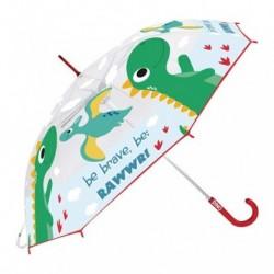 Paraguas Eva Transparente Dino Manual 46cm.