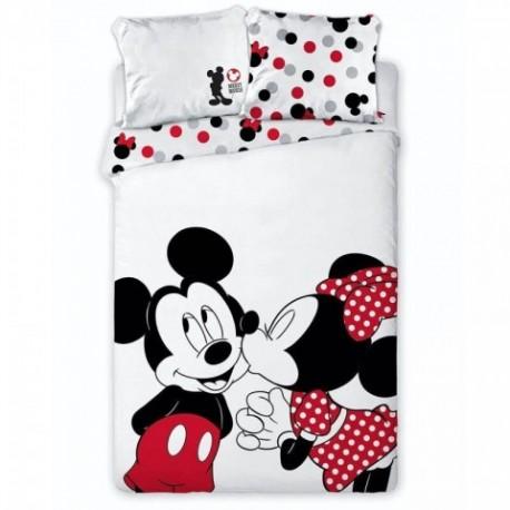 Funda Nordica Microfibra Mickey,Minnie 140x200cm. funda Cojin: 63x63cm.