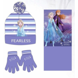 Set Braga Cuello Guantes Gorro Frozen ll Disney