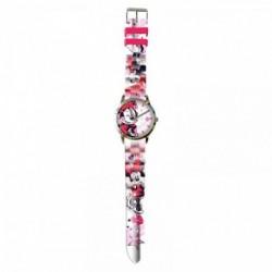Reloj Analogico Minnie Disney En Caja Metal