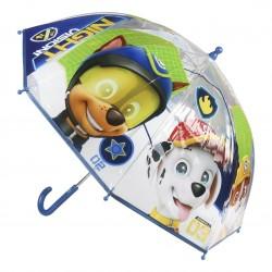 Paraguas Manual Patrulla Canina Transparente 45cm.