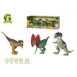 Set 3 Dinosaurios Con Luces Y Sonidos 44X17x14cm